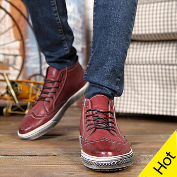 Spring Autumn Male Fashionable Trend British Oxfords Shoes For Men High Top Vintage Outdoor Casual Shoes