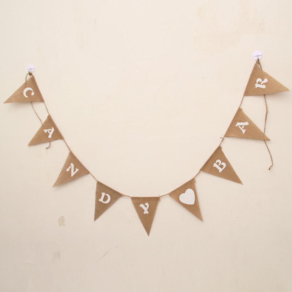 suministros de la boda del caramelo de la vendimia bar party bunting retro decoracin decoracin