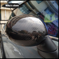 Горячая Распродажа стильные автомобильные для Mini Cooper F54 F55 F56 снаружи зеркало заднего вида крышки Кепки корпус из углеродного волокна стикер