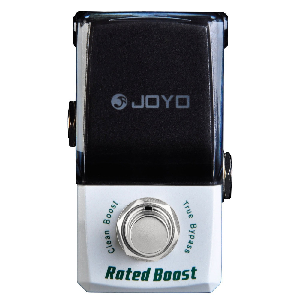 JOYO JF-301 Rated Boost Mini Electric Guitar Effect Pedal with Knob Guard with Clean Booster True Bypass aroma adr 3 dumbler amp simulator guitar effect pedal mini single pedals with true bypass aluminium alloy guitar accessories