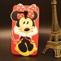 Para alcatel one touch pop 3 5.5 5025d 5025 phone case silicone macio 3d bonito dos desenhos animados minnie mouse de volta capa protetora case