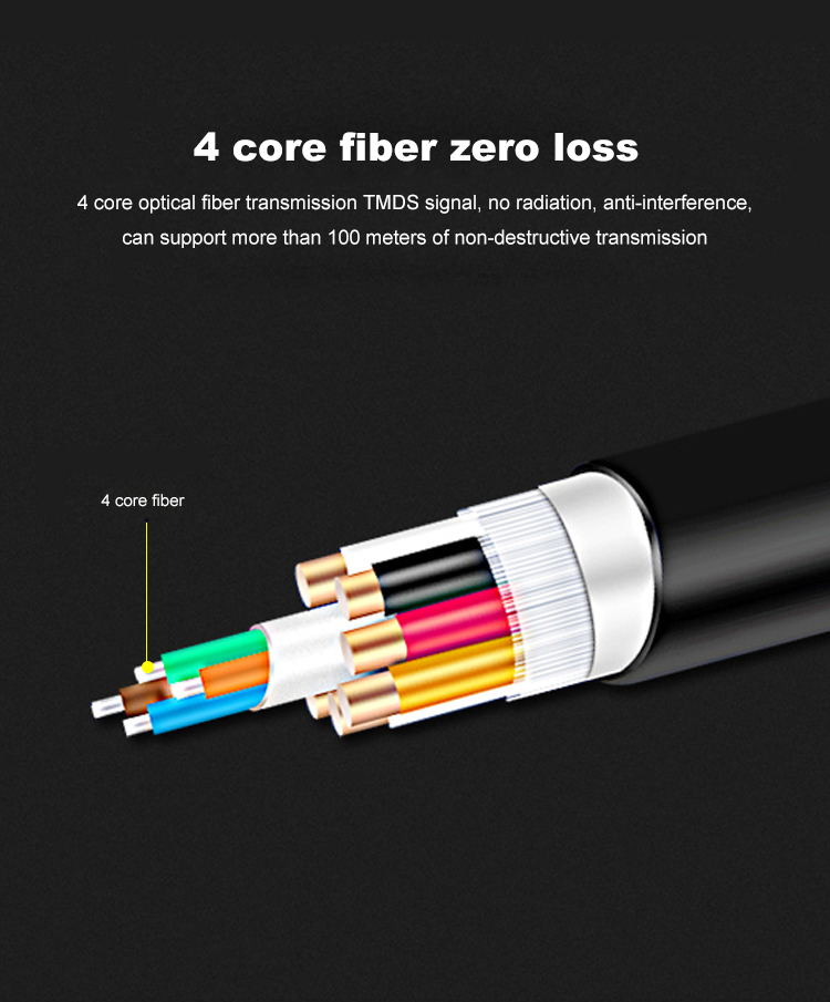 10 HDMI 2.0 Cable Active Optical Cable Long Transmission Lossless 4K 60Hz for HD TV Projector PS4 20m 30m 50M 10M Fiber Optic HDMI