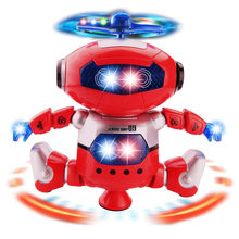 Space Dancer Smart Humanoid Robot Toy With Light Sound Children Pet Electronics Walking Toys for Boy Kids Gift(China)