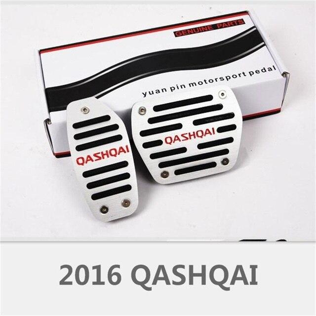 2PCS Aluminum Alloy Auto Accelerator Footrest Brake Pedal Special For Nissan Qashqai 2016 Interior Anti-slip Padels Car-Styling
