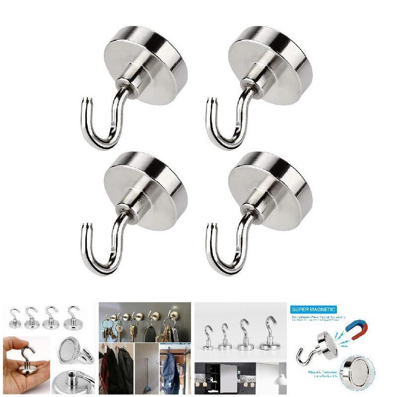 Super Strong Metal Magnetic Hook Hanger Microwave Refrigerator Magnet Hook Decor
