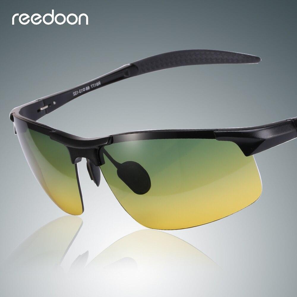 3f633e53a1bde Reedoon óculos de Visão Noturna Óculos Polarizados Lente Amarela  Anti-Reflexo Moldura De Alumínio E