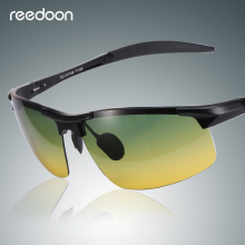 Reedoon Night Vision Sunglasses Polarized Yellow Lens Anti-Glare Aluminum Magnesium Frame Glasses Driving Goggles For Men Women