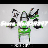 Body For KAWASAKI NINJA ZX 9R ZX9R 98 99 ZX 9R Green black 9 R ZX9 R 98 99 1998 1999 Fairing+Glossy green blk