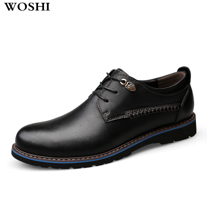 genuine leather oxfords shoes Men Flats Casual New lace up Shoes Men Oxford Fashion Dress Shoes Work Shoe Sapatos big size 47 48 2017 autumn winter men shoes genuine leather casual lace up men s flats style comfortable dress work shoes big size 37 47