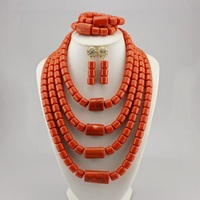 High Quality Tribal Nigerian African Stones Beads Decor For Women Wedding Party Bridal Neck Decoration OT989