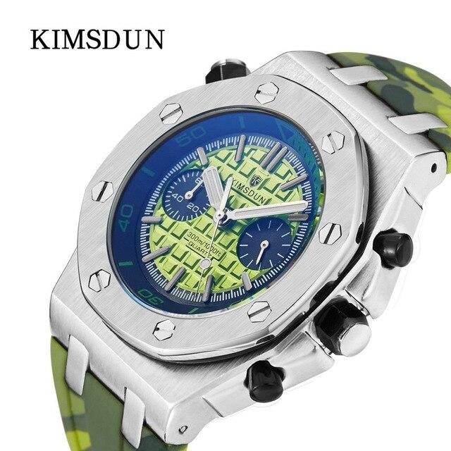 KIMSDUN Brand Men's Sports Luxury Fashion Casual Quartz Watch Silicone Strap Gift Clock Relogio Montre Femme Wrist Masculino