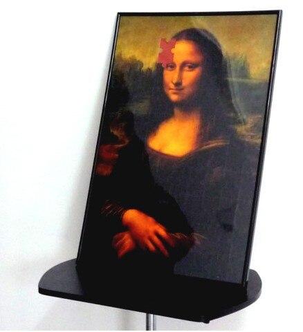 La sonrisa de Mona Lisa rompecabezas foto marco/Deluxe rompecabezas truco trucos de Magia etapa Magia tarjeta Magie mentalismo truco prop mago-in Trucos de magia from Juguetes y pasatiempos    1