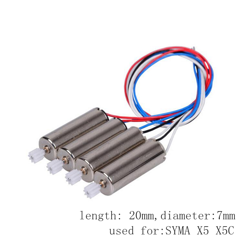 Toys & Hobbies Sensible 4pcs Motor For Syma X5 X5c Cw Ccw Brush Engine Rc Drone Spare Parts Quadcopter Accessory Dron Kit Moto Agreeable To Taste