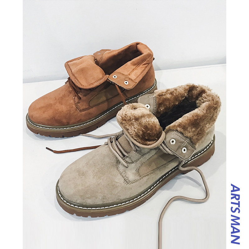 Winter Korean Version Trend Of Mens Tooling Plus Velvet High-top Shoes To Keep Warm Martin BootsWinter Korean Version Trend Of Mens Tooling Plus Velvet High-top Shoes To Keep Warm Martin Boots