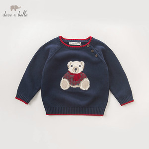 Image 1 - DB5905 דייב bella סתיו תינוקות תינוק בני חיל הים דוב בסוודרים סוודר ילדים יפה ילדי פעוט סרוג סוודר