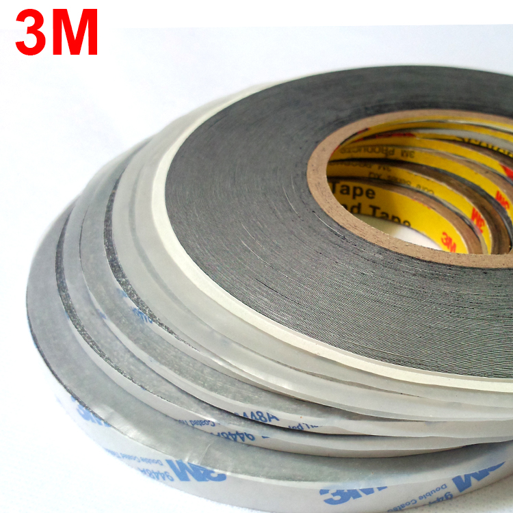 (1mm~10mm*50 Meters), Ultra Thin & Slim 3M 9448 Black Double Sided Adhesive Tape For Cell Phone Screen LCD Display Digitizer Fix