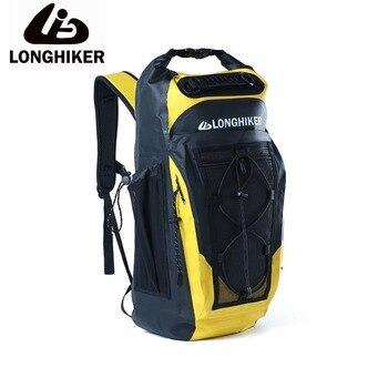 a7c70a9695d4 30L LONGHIKER deportes al aire libre PVC Impermeable senderismo ciclismo  mochila bolsa para natación Impermeable a prueba de agua mochila seca