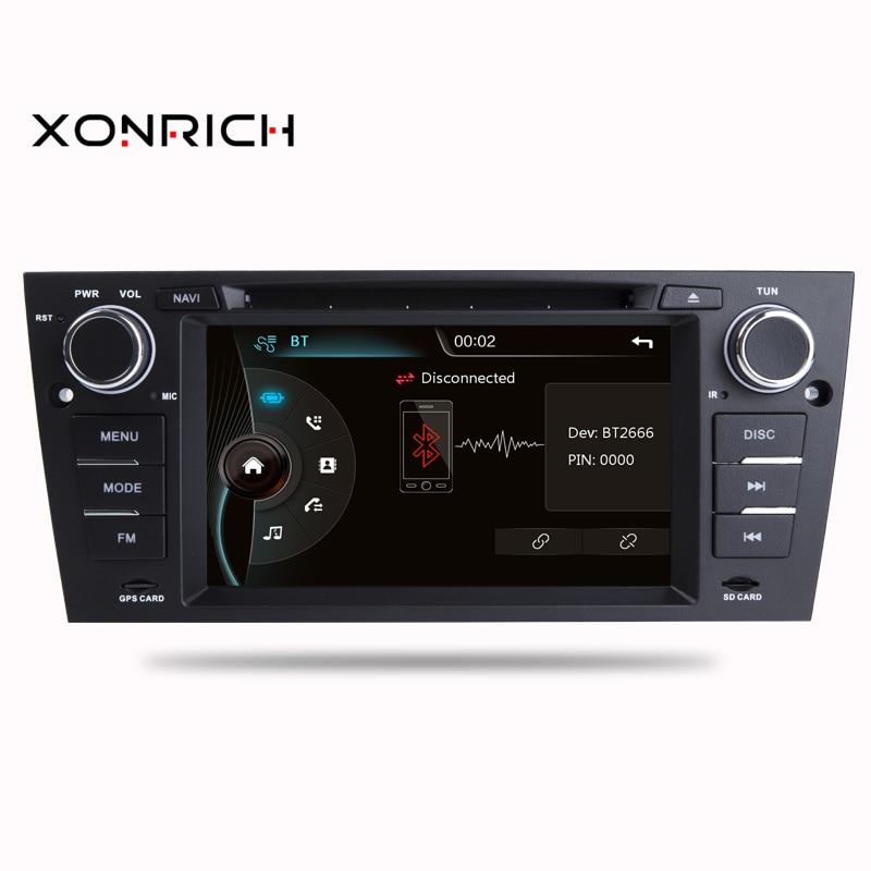 AutoRadio 1Din lecteur DVD de voiture pour BMW E90/E91/E92/E93 3 séries 2005-2012 unité de tête automobile multimédia GPS Navigation 3G