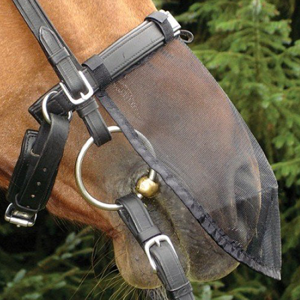 Equestrian Horse Fly Mask Pony Cob Nose Face Protection Cover Mosquito Insects Proof Hood Veils With Secure Hook Loop Closure