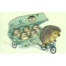 NEW Full 5D Diy Daimond Painting Cross-switch Hedgehog Taxi 3D Diamond  Square/Round Rhinestones Embroidery