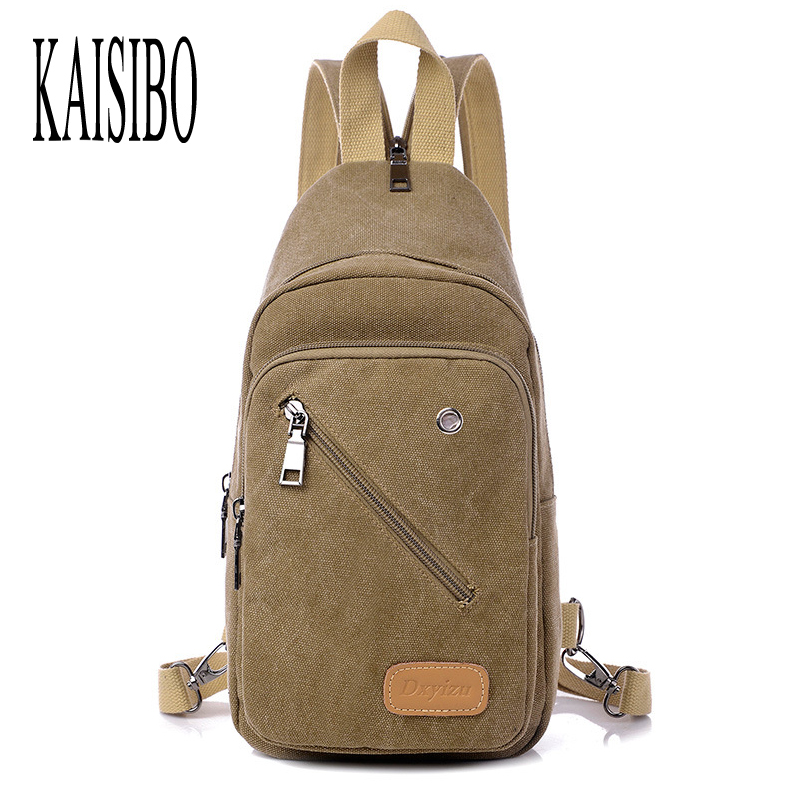 KAISIBO Fashion Mens Chest Bag Canvas Shoulder Backpacks Casual Men Waist Bags Women Man Crossbody Bag Ladies Backpack aosbos fashion portable insulated canvas lunch bag thermal food picnic lunch bags for women kids men cooler lunch box bag tote