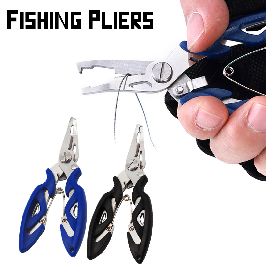 2019 New 1PC Durable Portable Multifunctional Stainless Steel Fishing Pliers Split Ring Scissors Wire Line Cutter Hook Removers