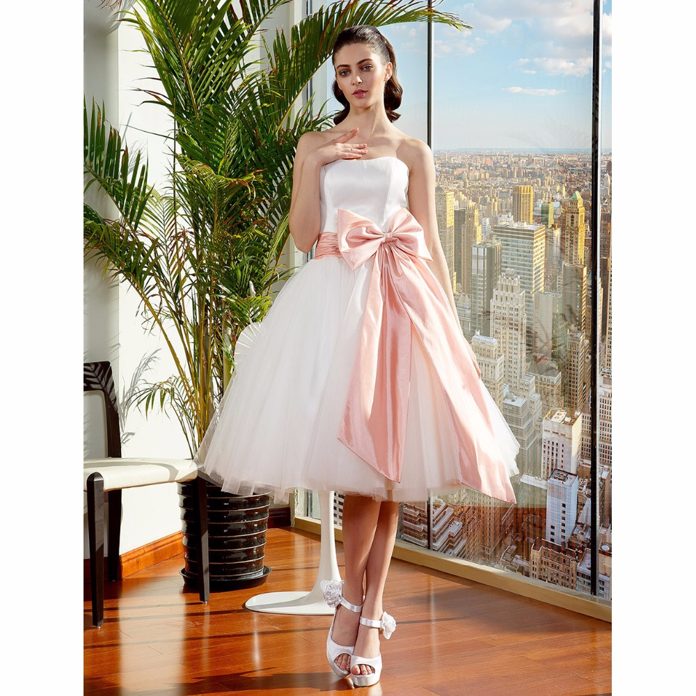 LAN TING BRIDE Ball Gown Wedding Dress Strapless Knee