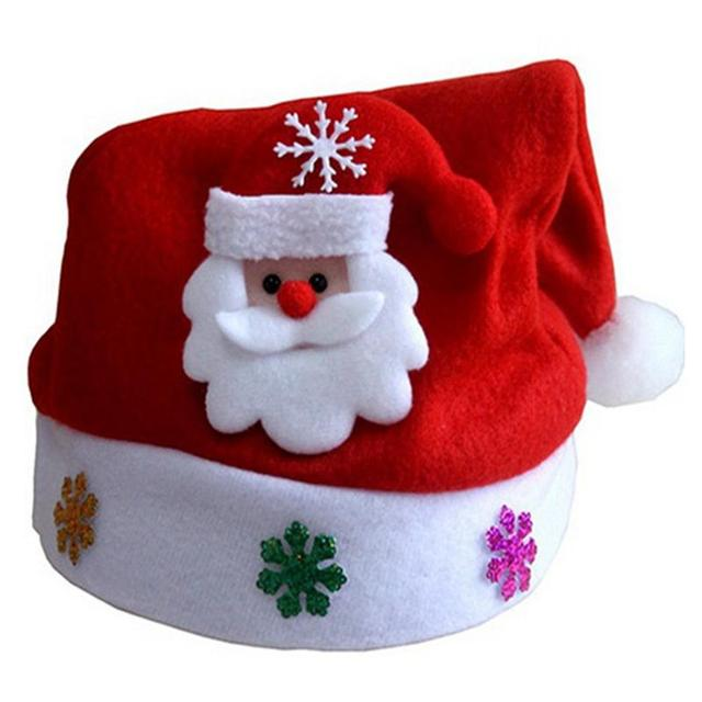 8412cc413901b Traditional Red And White Christmas Santa Claus Hats For Kids Party Favors  Decoration