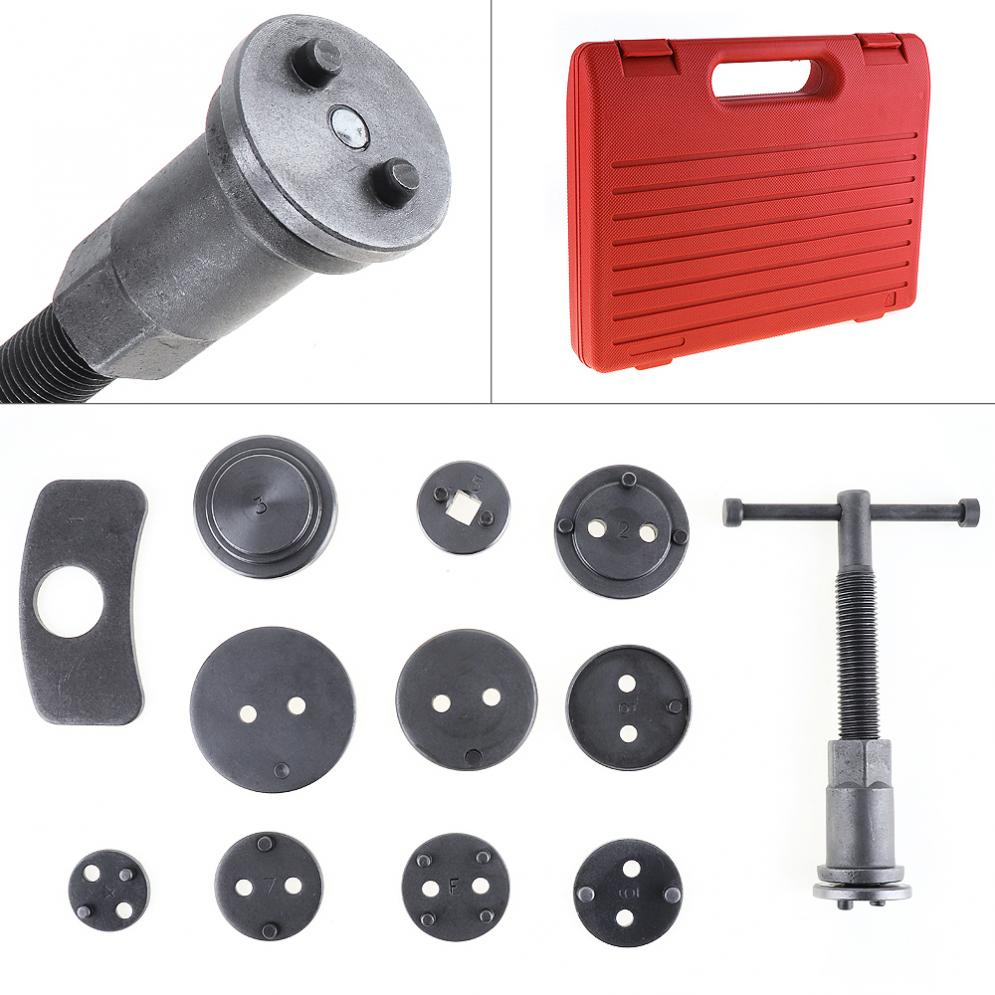 12pcs/Set Universal Car Disc Brake Caliper Wind Back Brake Piston Compressor Tool Kit For Most Automobiles Repair Tools 2 pair universal car 3d style disc brake caliper covers front rear