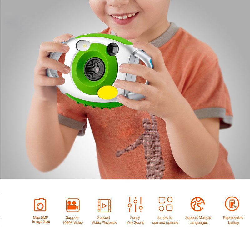 DOITOP Digital Camera 5MP HD Mini Outdoor Kids Children Neck Camera Camcorders Photography Video Recording Kids Cam Toys C4