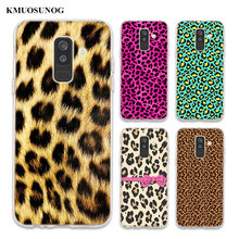 Transparent Soft Silicone Phone Case leopard print For Samsung Galaxy A6 A6+ A8 Star A8+ A7 A5 A3 Plus 2018 2016