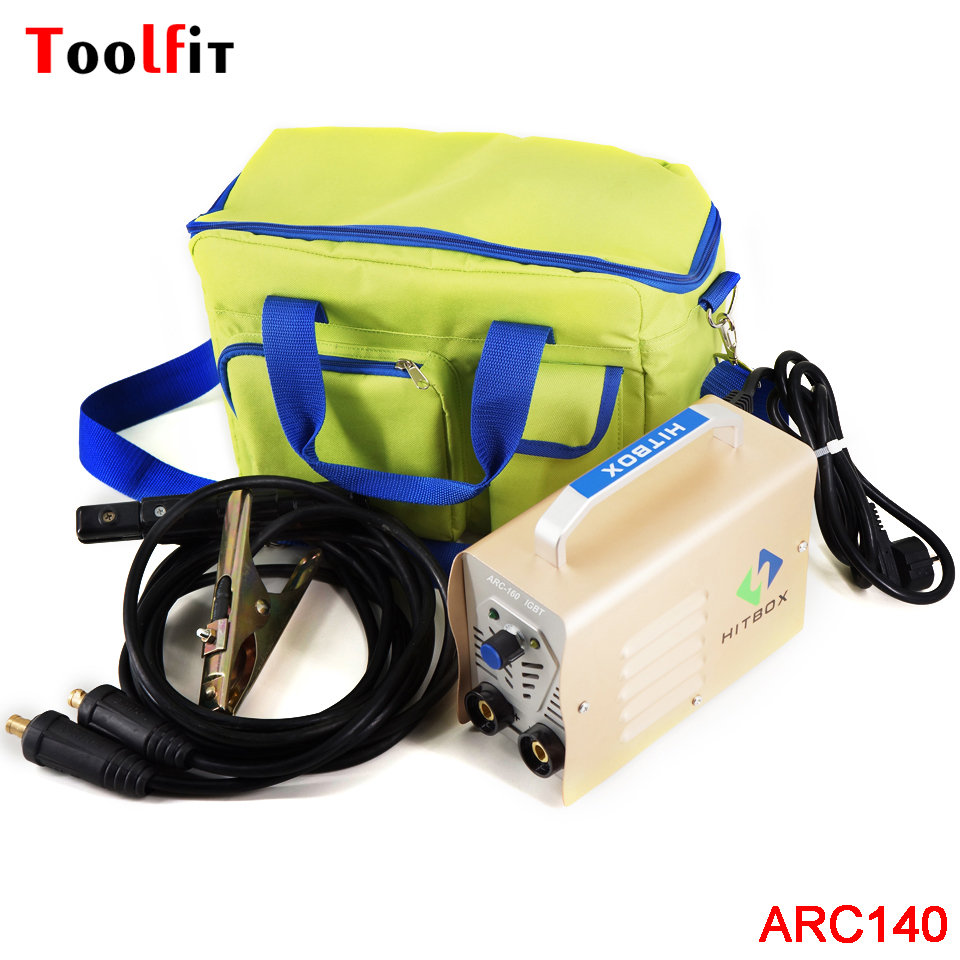 ARC140 IGBT Welding Machine DC Inverter Welder 220V 140A MMA ARC Welders With Bag Easy To Carry Widely Use Welding Equipment promotion welder new 220v only 2 5kg 200a hand inverter dc mma igbt diy welding machine equipment and 1 pcs solar eyes mask