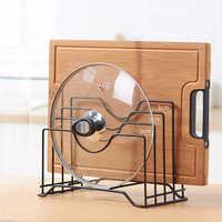 Estante de cocina estante de corte soporte de tabla de cortar soporte de organizador de tapa de maceta Tapas soporte de cubierta de acero inoxidable estante de cocina