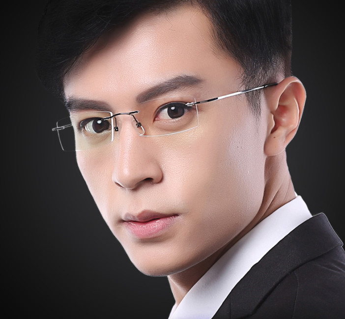 Eyesilove Ultra-light Men Titanium Alloy Rimless Myopia Glasses Women Nearsighted Glasses Prescription Glasses -0.50 To -6.00