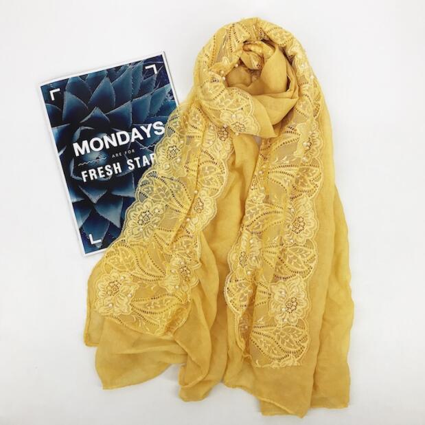 BR1  High quality Big size lace  hijab scarf shawl women wrap headband 180*90cm 10pcs/lot can choose colors