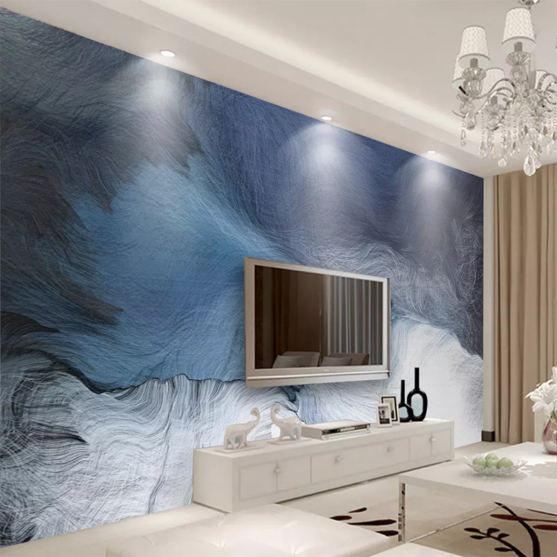 Custom Photo Wallpaper 3D Modern Fresh Dynamic Lines Texture Mural Wall Cloth Living Room TV Bedroom Home Decoration Waterproof