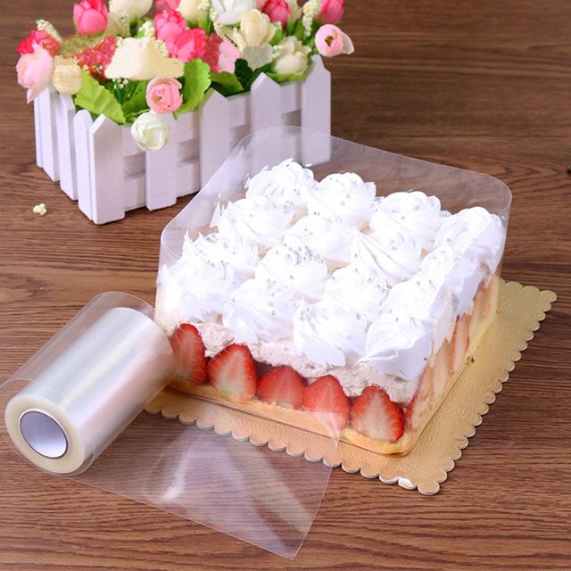 Transparent Mousse Cake Dessert Surrounding Hard Bounded Decorative Sheet Food Film Around Cake Edges OPP Plastic Band