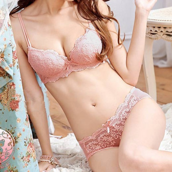 087f55e901641 Corset Solid Sexy Lingerie Women Underwear Push Up Lingerie Set Lace  Embroidery Bra Sets Underwear Sexy Padded Bra + Knickers