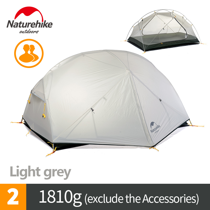 Naturehike 2 Man Camping Tent Outdoor Two Person Hiking Backpacking Tents with Footprint Mongar 2 New