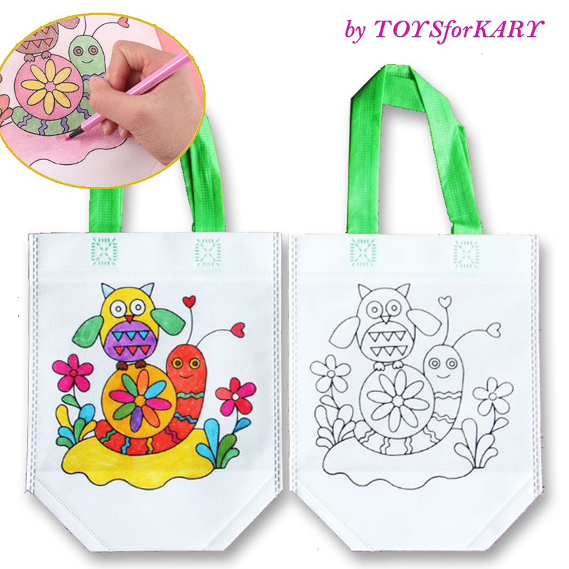 DIY Painting Drawing Graffiti Bag Environmental Protection Materials Various Design Toys For Develop Child Kindergarten Patience