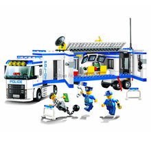 394pcs New 10420 city police fluidity Police Station building blocks assembled kids toys Compatible With Legoe 60044 LR-734