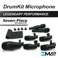 Freies Verschiffen!! P DMK7 Professionelle Percussion Schlagzeug Gitarre Messing 7 Stück Drum Kit Instrument Mikrofon Mic mit Tragetasche