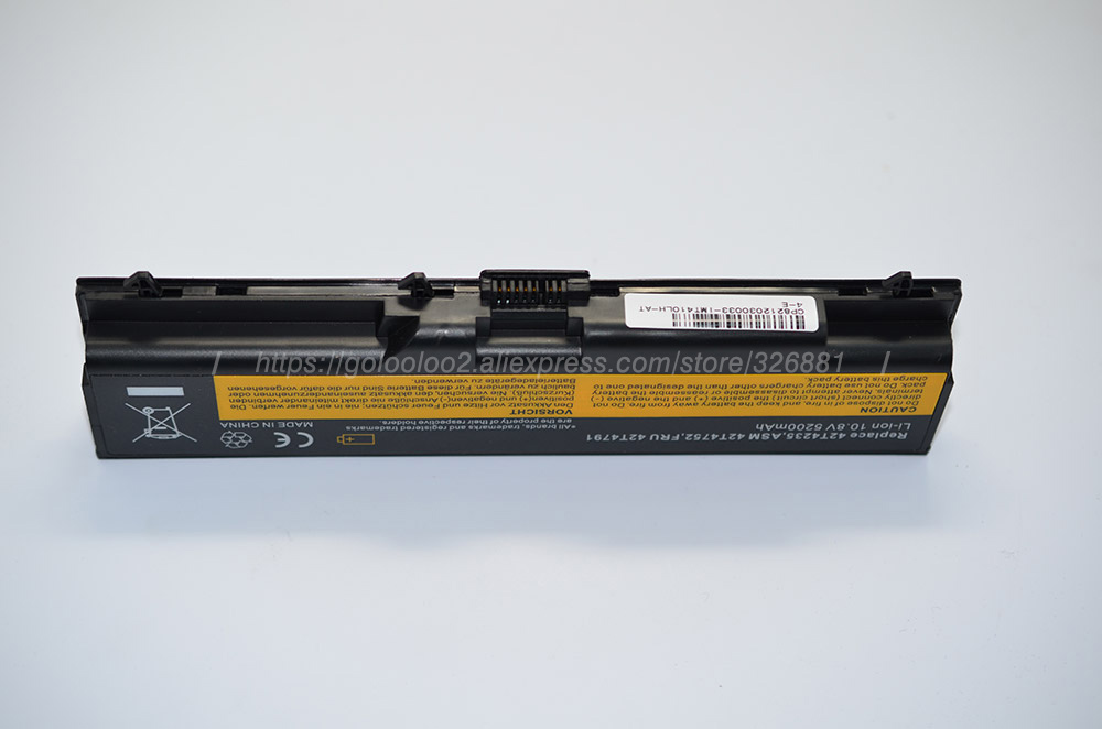Baterias de Laptop edge l410 t410 t420 t520 Capacidade de Bateria : 4001 - 5000 MAH