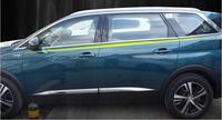 以下 8 ピース/セットステンレス鋼車の窓装飾ストリップトリムのためのプジョー 5008 2017 2018 2019 -