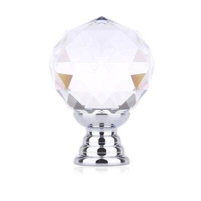 5pcs Round Glass Ball Design Door Drawer Cabinet Wardrobe Handle Knob with Screw