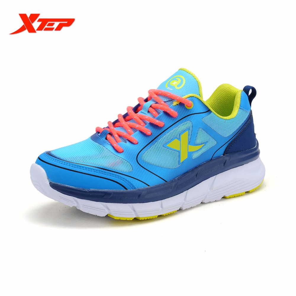 XTEP Men Running Shoes 2016 Sports Shoes Men's Athletic Sneakers Air Mesh Run Shoes Shock Resistance Trainers Shoes 984219119102