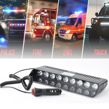9 LEDs 16 Flashing Modes 12V Car Truck Emergency Flasher Dash Strobe Warning Light Day Running Flash Led Police Lights
