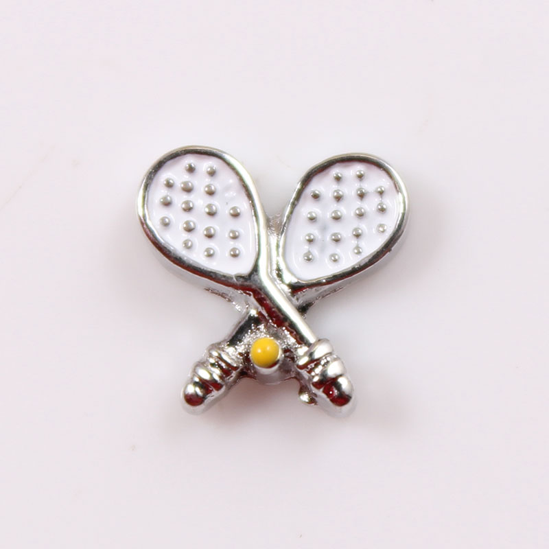 20pcs/lot MIX Style Sports Series Enamel Floating charm For Floating Memory Living Glass Locket Jewelry