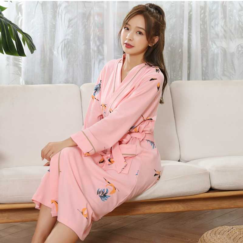 Women Bathrobe Cotton sleepwear White Shower Spa Robe bath Bathrobe Sleep Nightgown  robe Men Dressing Gown b53ac0488