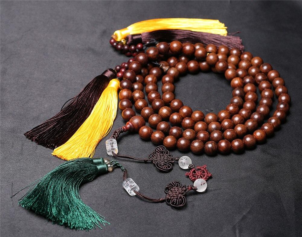 Collier de perles de bouddha 108 en soie or Design de mode Bracelet de perles magiques en bois de santal naturel africain collier de brin de prière